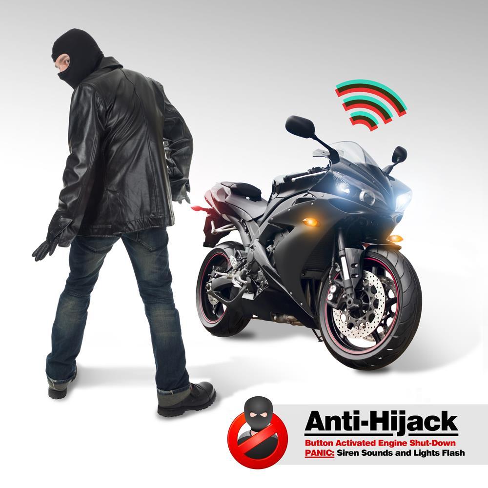 New Motorcycle Alarm Security System  U0026 Auto Start Remote W