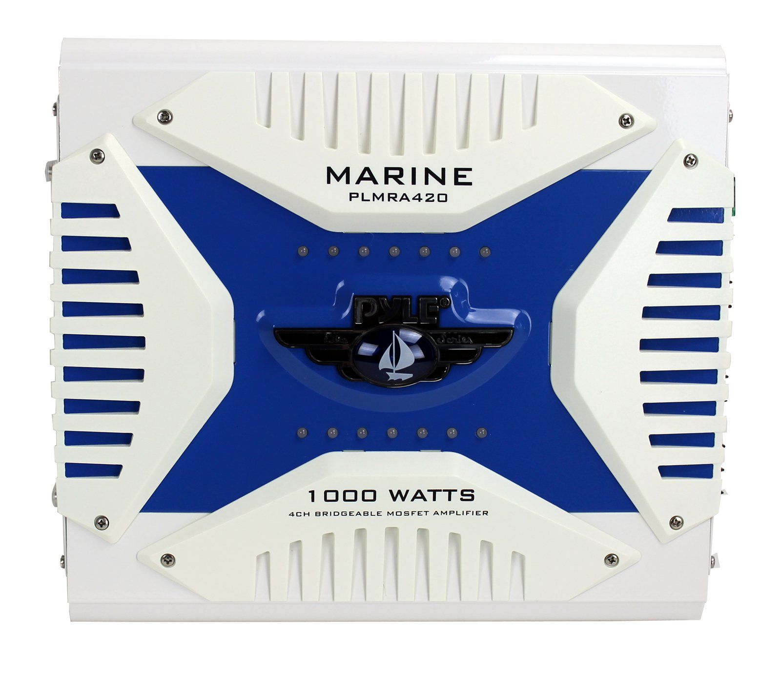 NEW PYLE PLMRA420 1000w 4 Channel Marine Audio Amplifier Sub Amp Waterproof