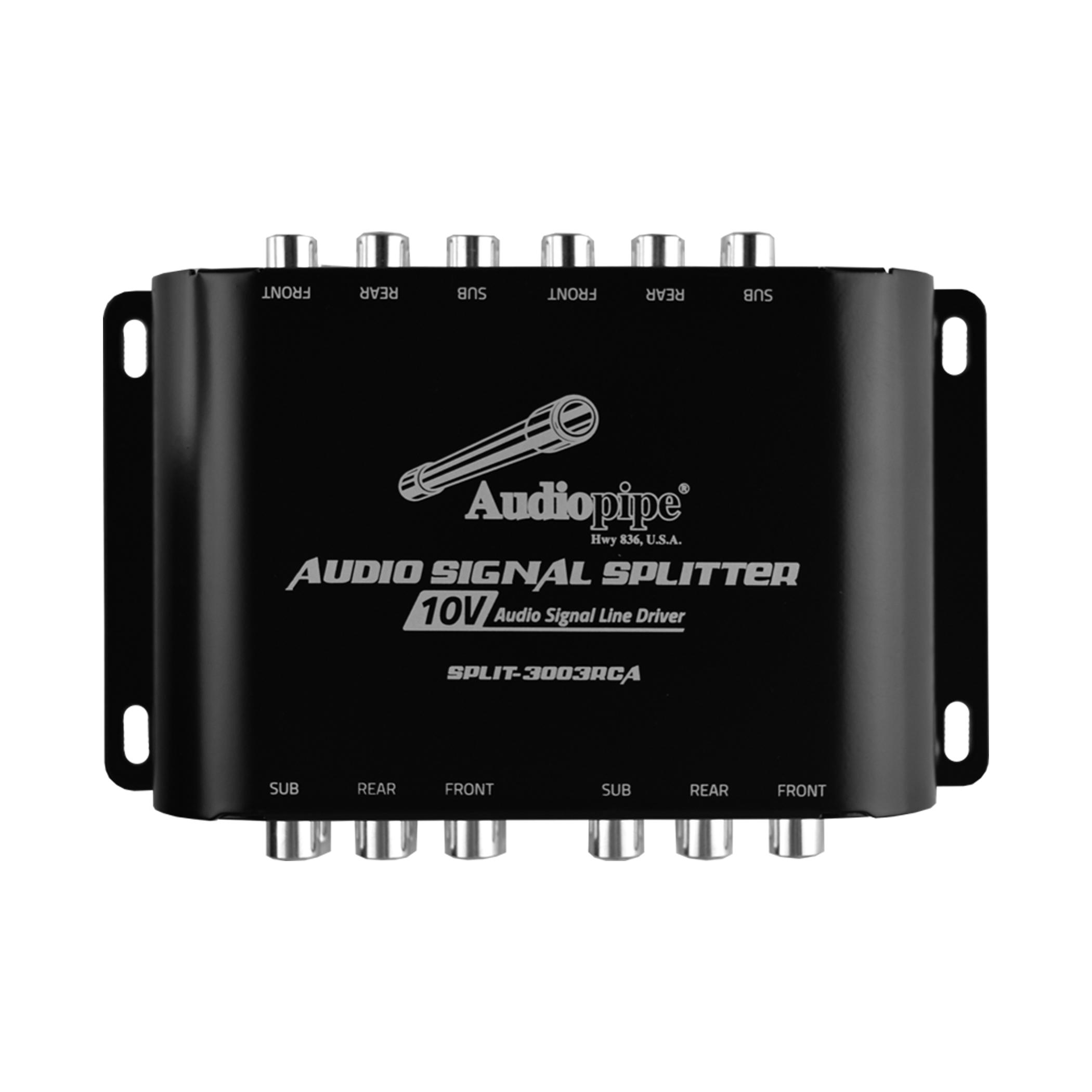 Audiopipe SPLIT3003RCA Audio Splitter 1 RCA In 3 RCA Out 10V Line Driver NEW
