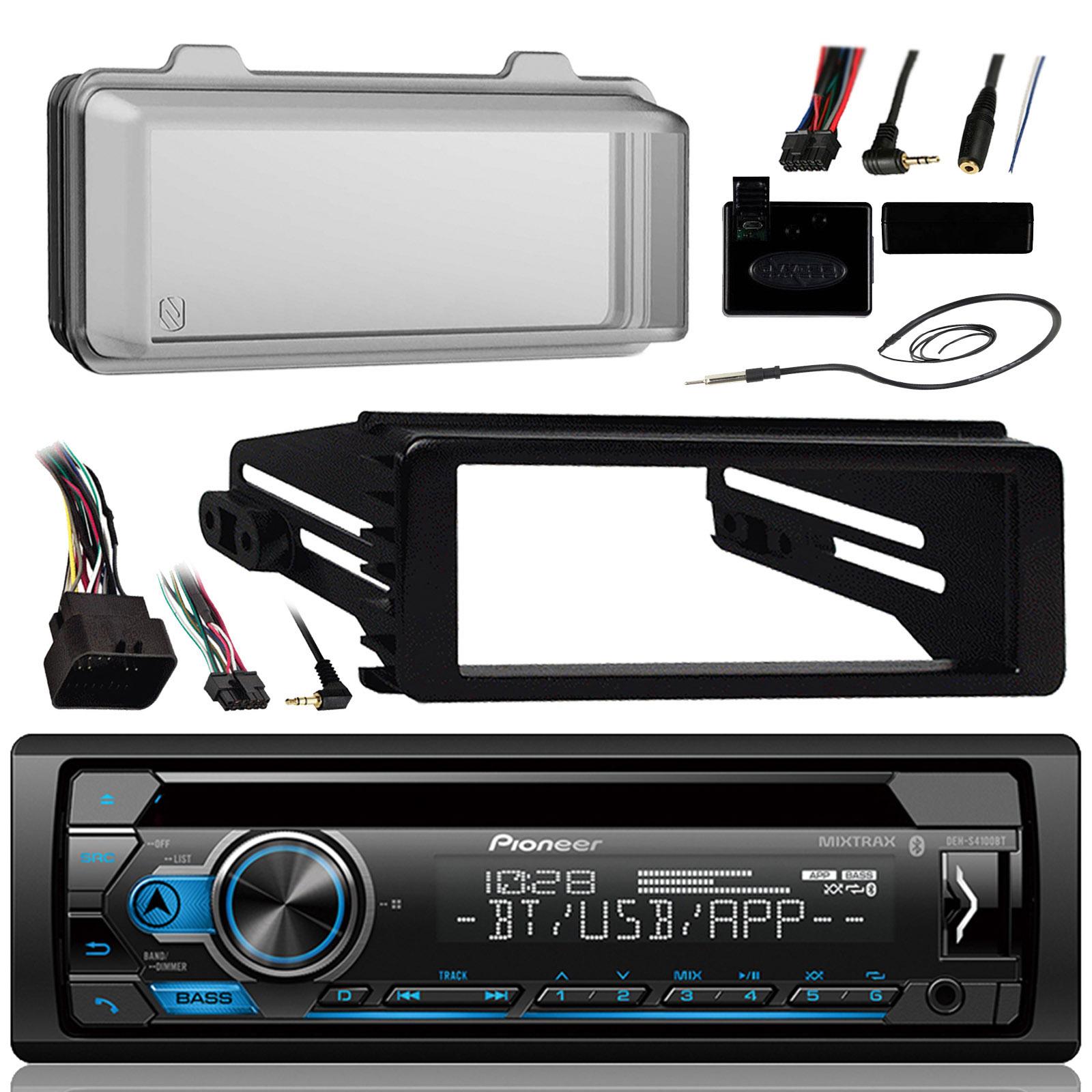 DEH-X4900BT Bluetooth USB Radio Harley 99-9600 Install FLHX Touring  Din Kit
