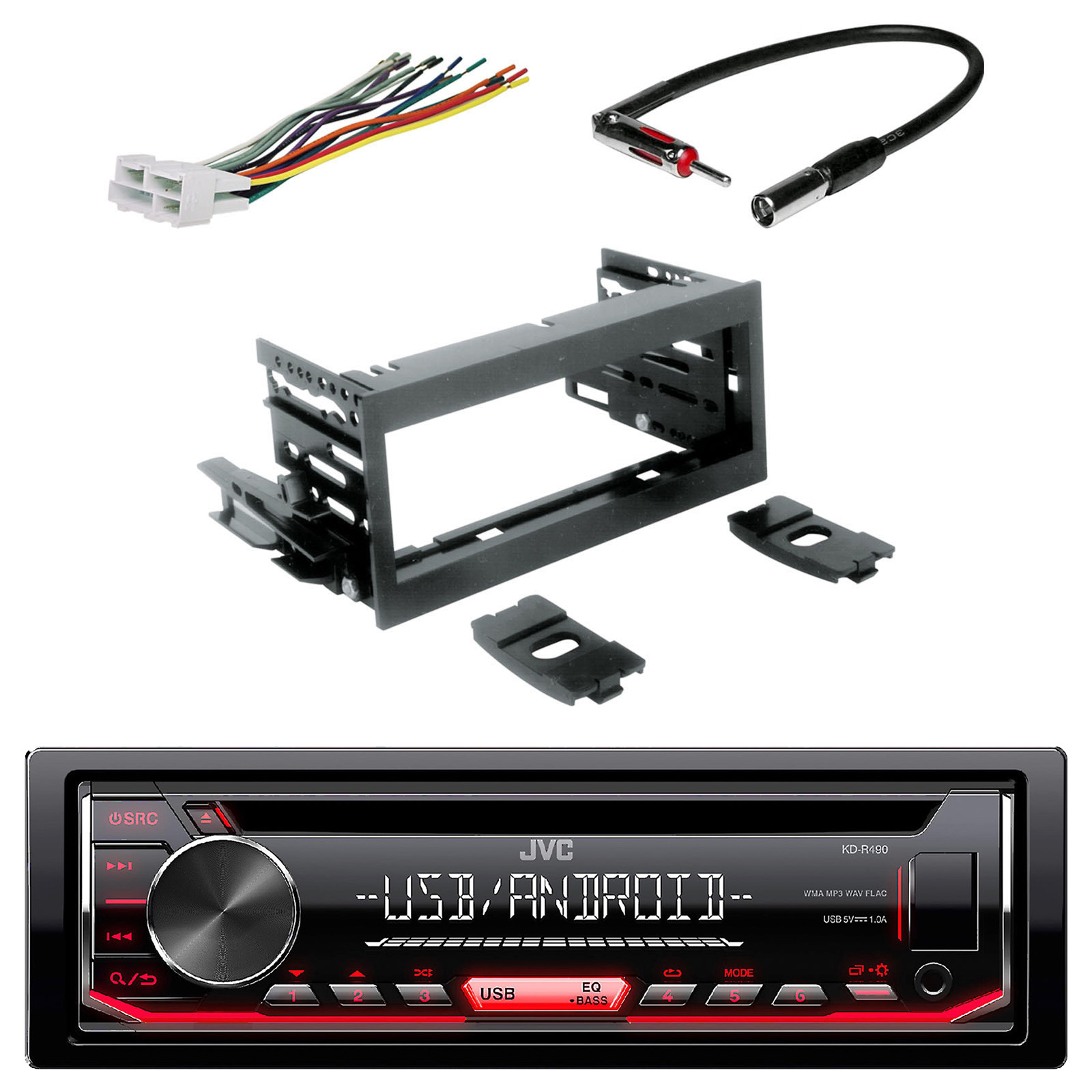 Car Cd Stereo Fitting Kit Wiring Harness Iso Aerial Adaptors Kit