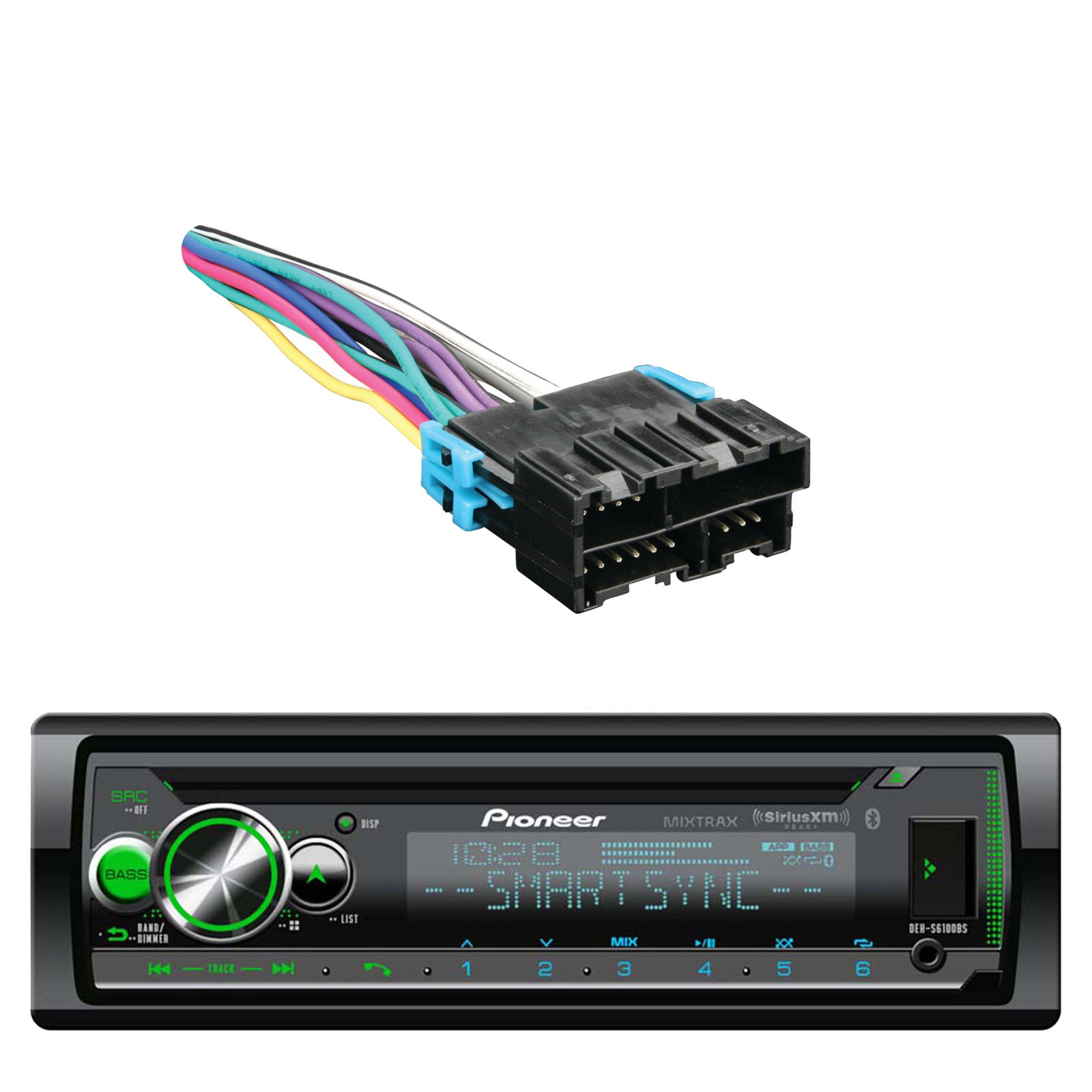 Car Audio System Bluetooth Cd Aux Mp3 Receiver  Cd Player Dash Installation Kit