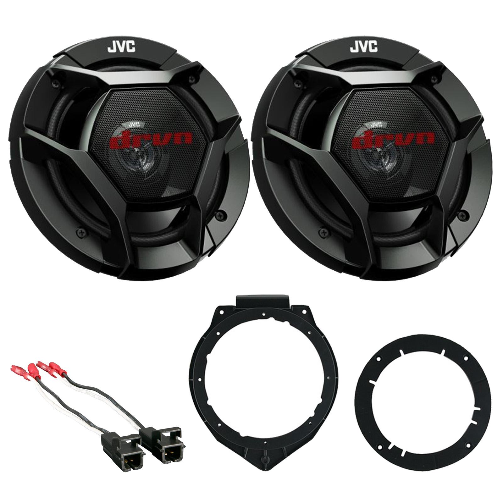 "New JVC 6.5/"" 2 Way Car Audio Stereo Speakers W// Mounting Brackets /& Wire Harness"