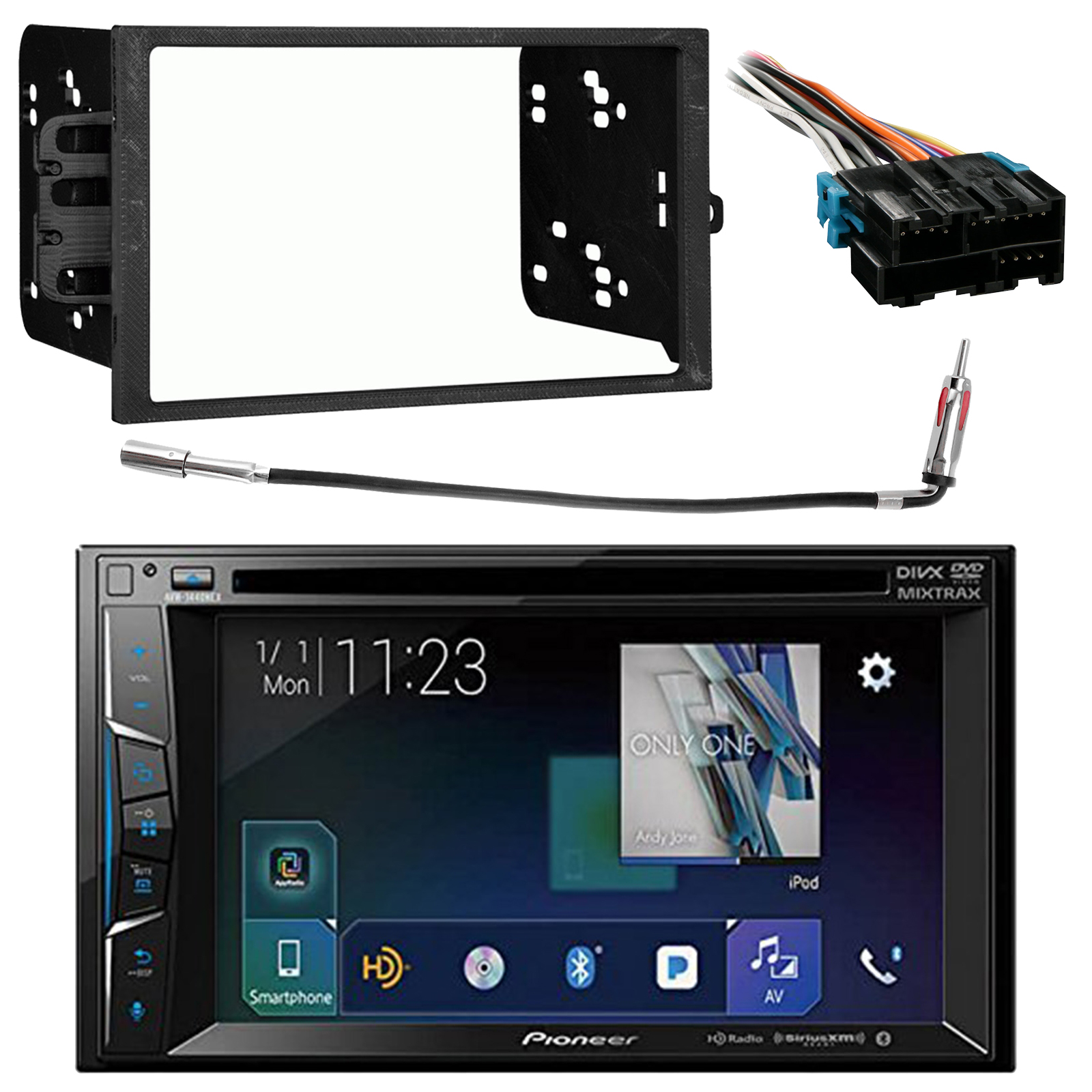 Details about Pioneer Double Din Bluetooth Receiver, 94-12 GM Dash on 1987 chevy dash harness, chevy suburban wire harness, 1971 chevelle dash harness, dash radio, 1967 chevrolet van dash harness, 99 firebird dash harness, dash gauges,