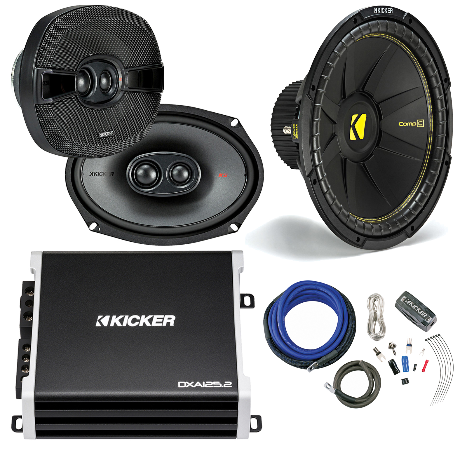 Vehicle Sound Box Connected Amplifier Wiring kit 4 Guage 2800W Car Audio Subwoofer Amplifier Speaker Installation Wire Cable Kit Fuse Suit