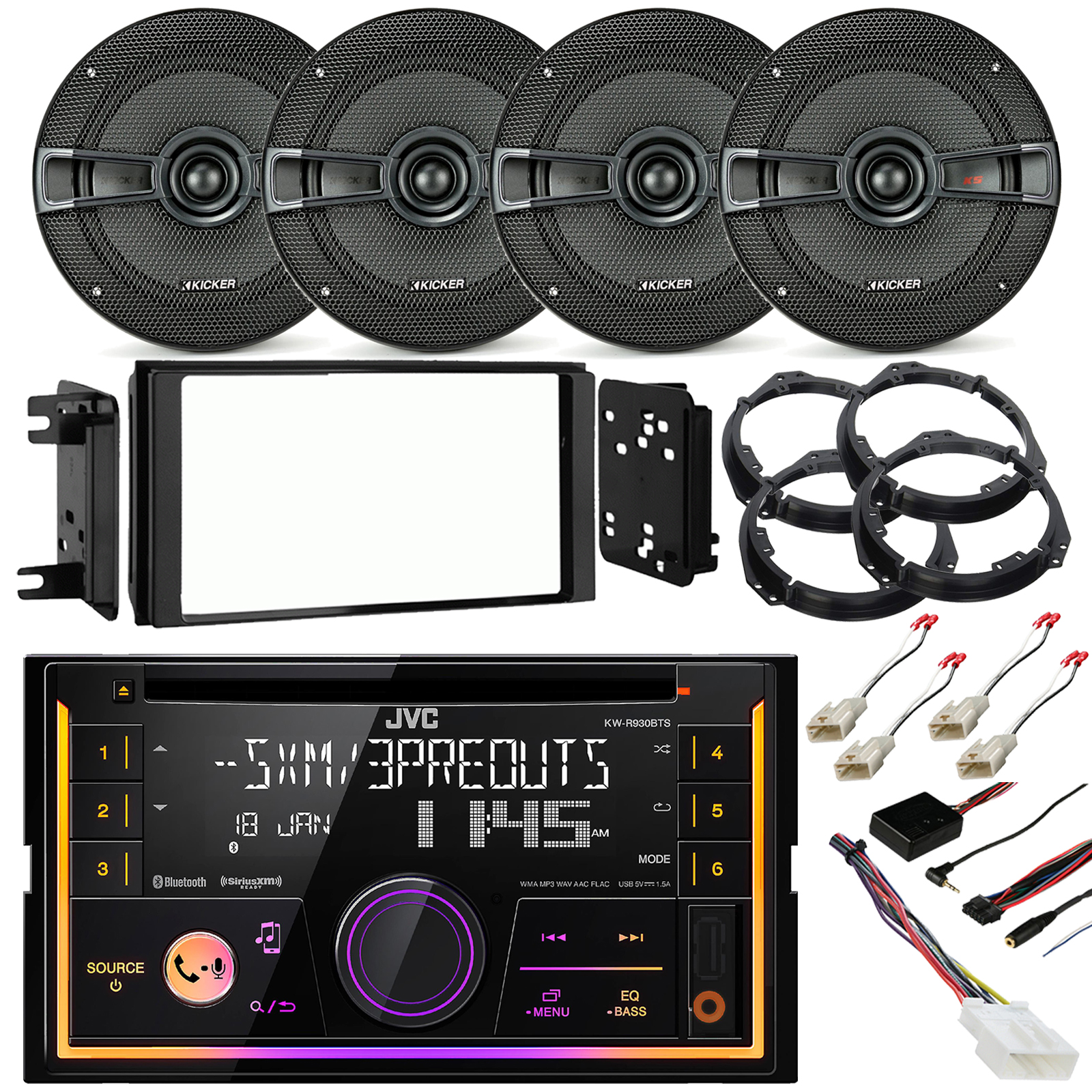 Premium Car Stereo Install Charcoal Gray Dash Kit Wire ... on dodge sprinter radio wiring harness, ford ranger radio wiring harness, chevy silverado radio wiring harness, cadillac escalade radio wiring harness, toyota tundra radio wiring harness, pontiac g6 radio wiring harness, ford f150 radio wiring harness, jeep wrangler radio wiring harness,