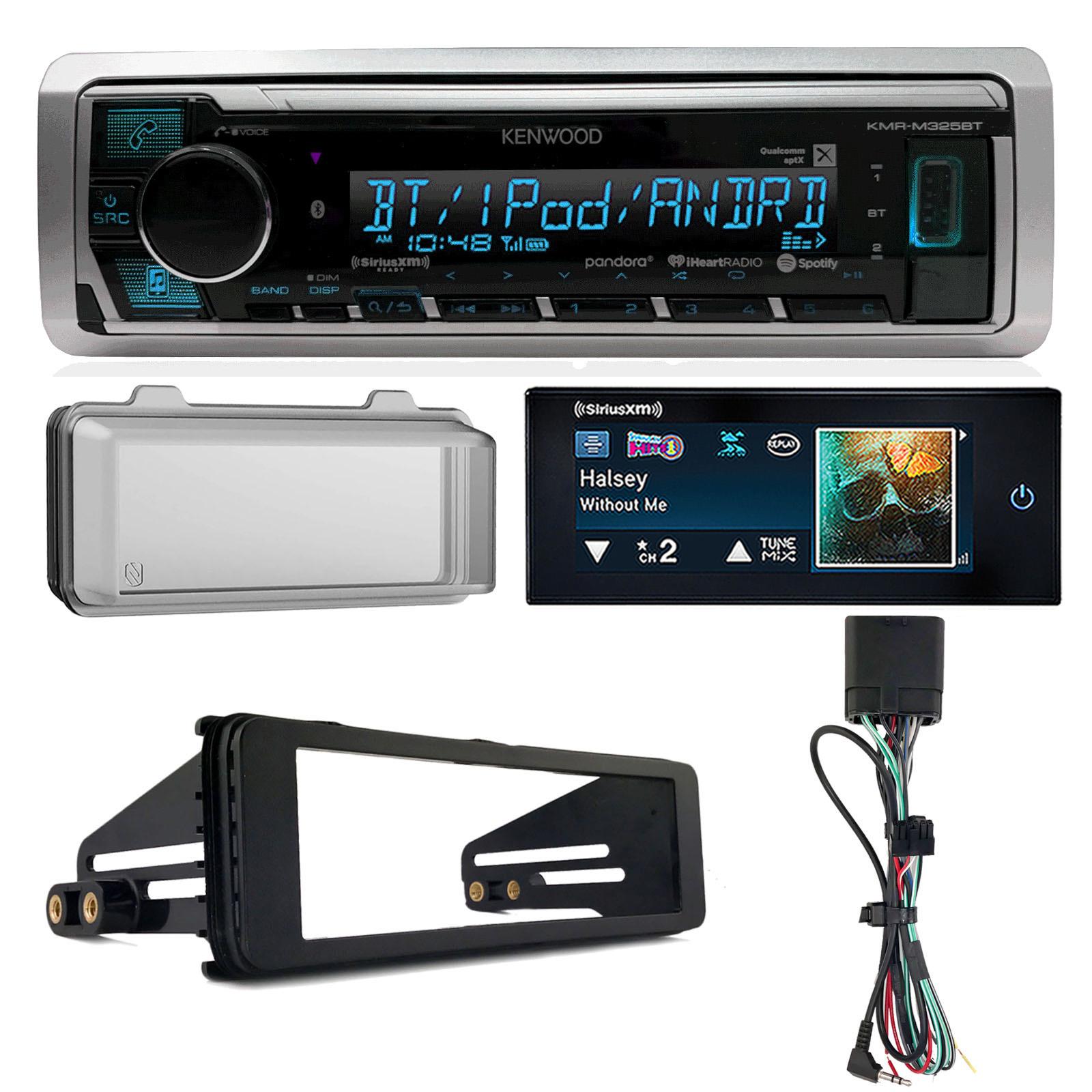 Harley Touring Marine Kenwood KMR-M325BT Bluetooth Radio Stereo Adapter Kit